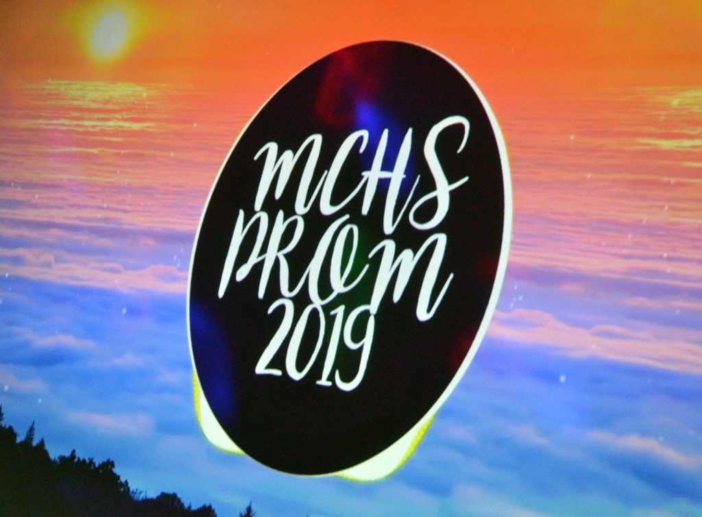 Projected graphics add extra flair to the Moffat County High School prom.