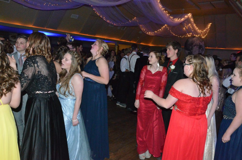 The evening gets going at Moffat County High School prom.