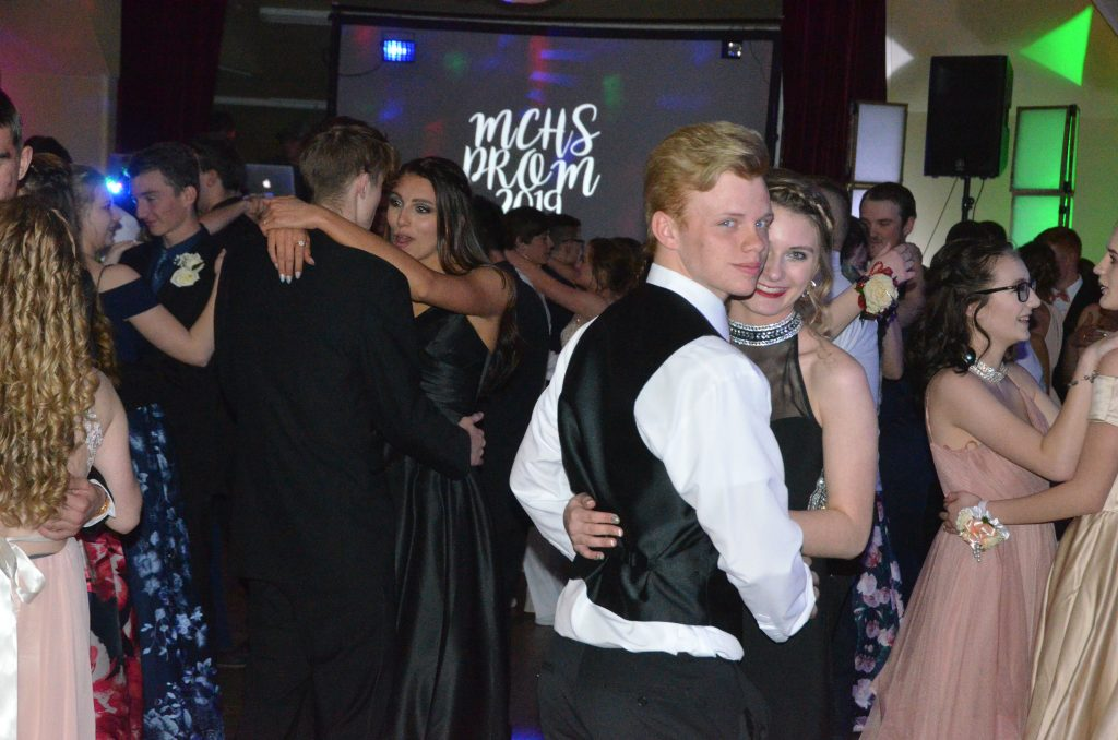 Students share a slow dance at Moffat County High School prom.