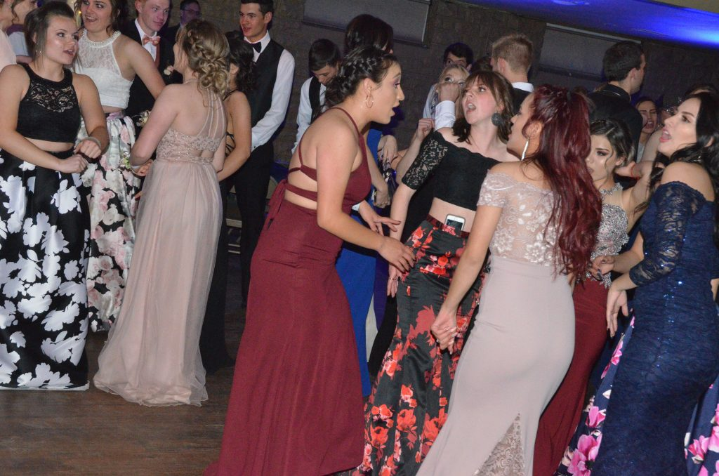 Students pack the floor at Moffat County High School prom.