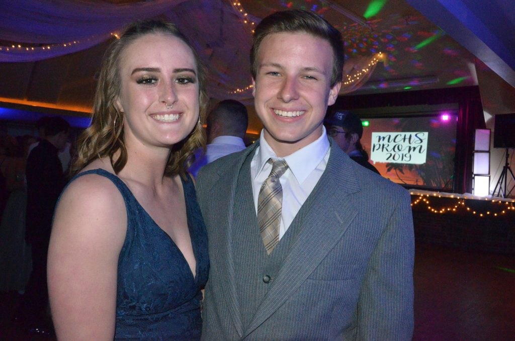 Bailey Lawton and Keaton Durbin are looking to get on the dance floor at Moffat County High School prom.