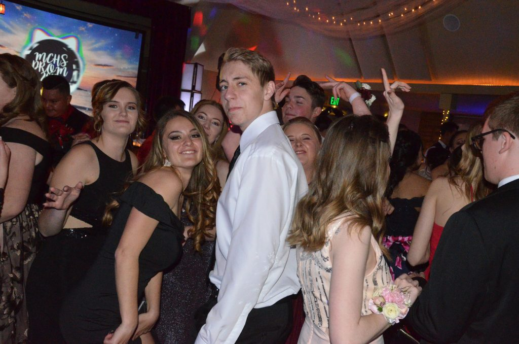 Students keep the energy up at Moffat County High School prom.