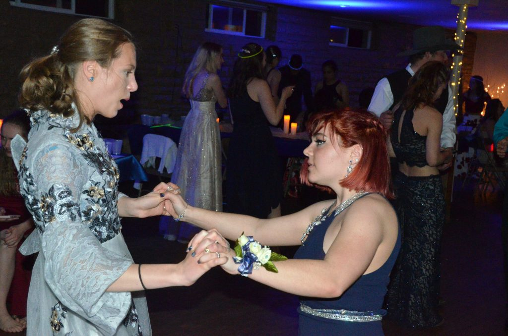 Students hit the dance floor at Moffat County High School prom.