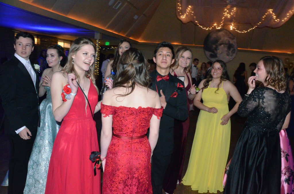 Students are ready for the night ahead at Moffat County High School prom.