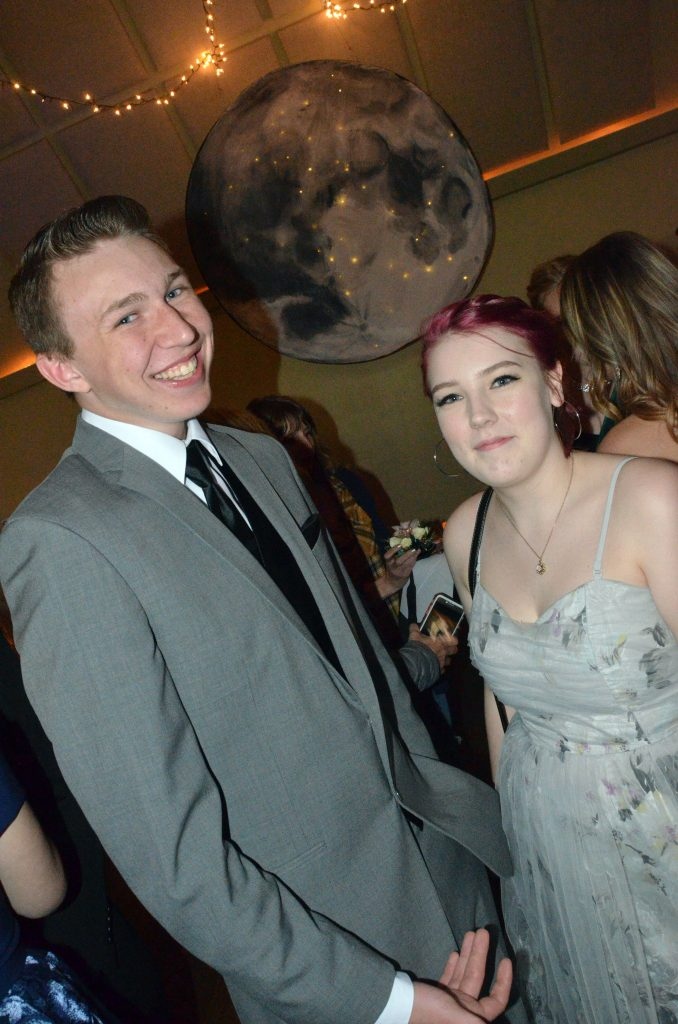 Owen Allen and Ashley Jessen get things started at Moffat County High School prom.