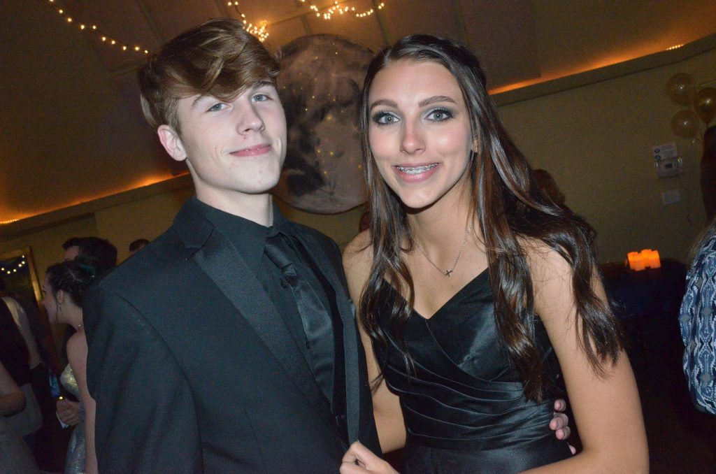 Chris Wells and Eliana Mack pose at Moffat County High School prom.