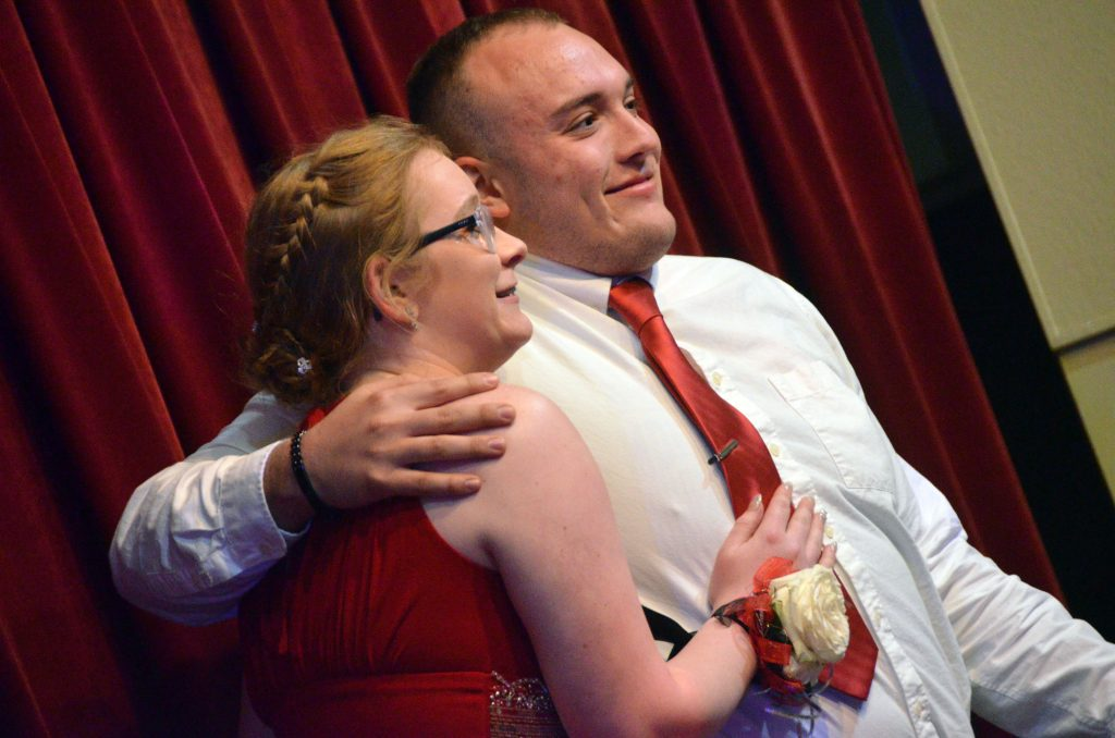 Aliceson Jones and Bryson Davis are among the first couples in the Grand March at Moffat County High School prom.