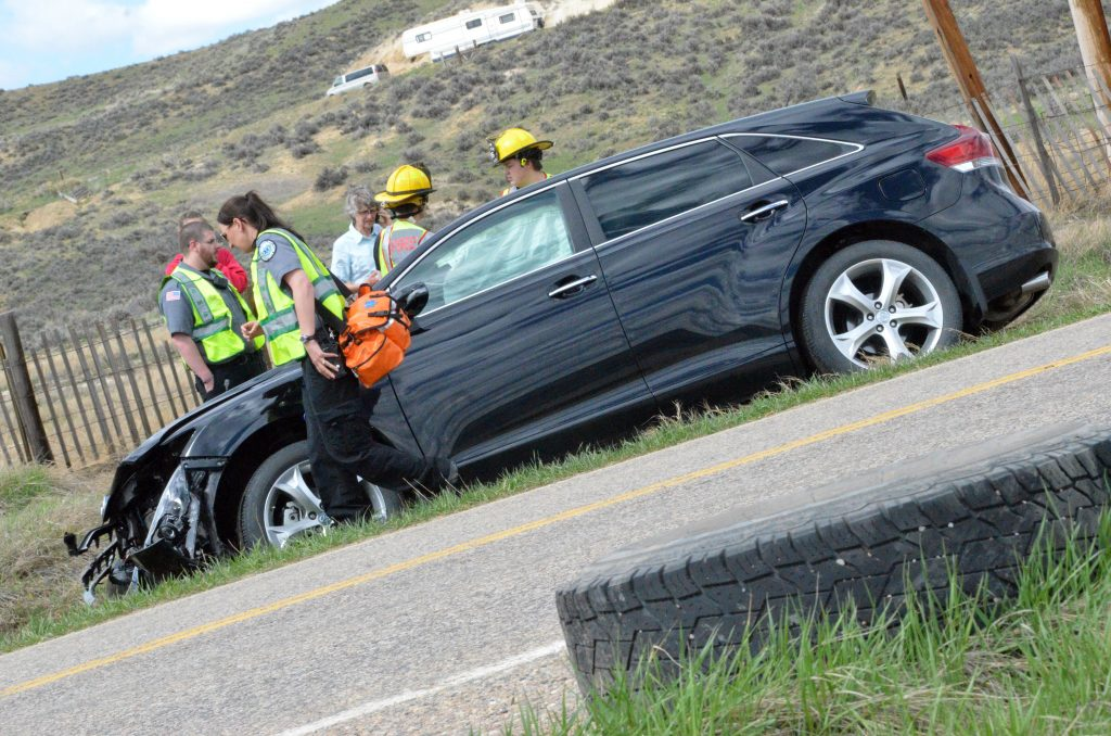 Two-car accident north of Craig on Colorado Highway 13