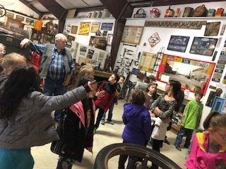 Moffat County educators give Lou Wyman, top left, high marks for his willingness educate students about Moffat County's living history.