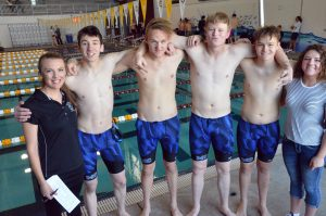 Moffat County swimmers drop times across the board to complete conference championships