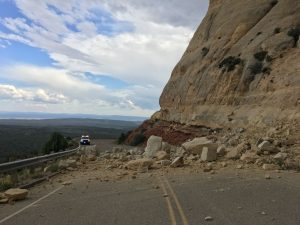 Rock slide cuts off access to Dinosaur National Monument