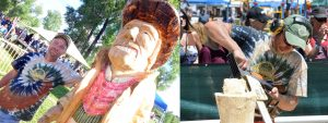 Cowboy caricature: Whittle the Wood Stump 3's Jim Valentine adds Western theme to list of ever-changing carving subjects