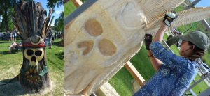 Light touch: Whittle the Wood Stump 5's Justine Park sticks with feather motif in 2nd year
