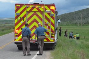 Vehicle crash on Colorado Highway 394 sends one to hospital