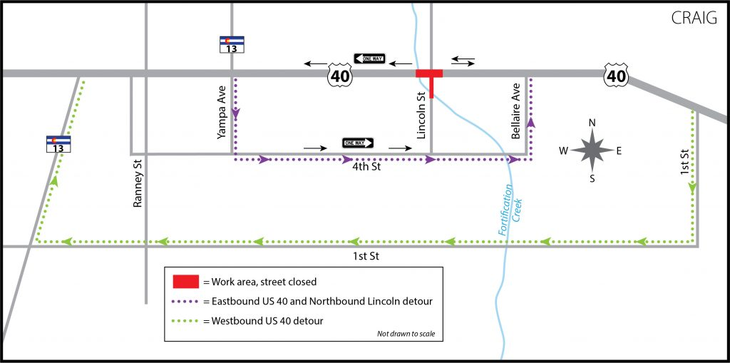 Keep detours in mind as Craig intersection closes July 23 for roadwork
