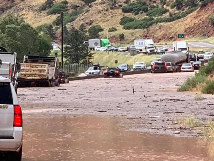 I-70 closed near Glenwood Springs due to mudslide