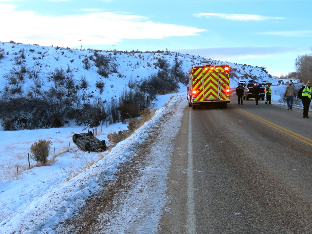 A rollover accident was reported early Monday morning, Dec. 2